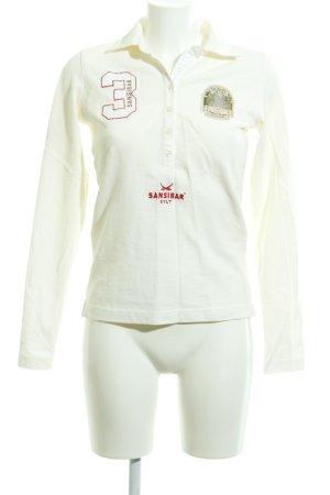 Sansibar sylt Polo bianco sporco stile casual