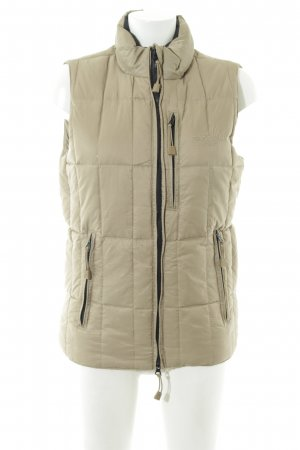 Sansibar sylt Quilted Gilet cream-black quilting pattern casual look