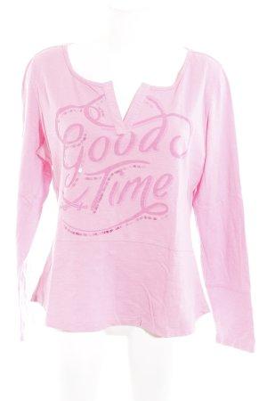 Sansibar sylt V-Ausschnitt-Pullover rosa-pink meliert Casual-Look