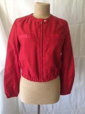Leather Jacket brick red leather