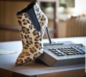 sante Leopard Stiefelette