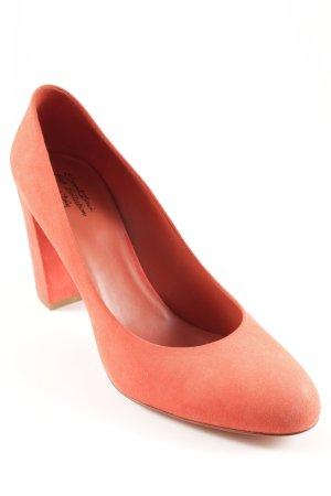 Santoni High Heels rostrot klassischer Stil