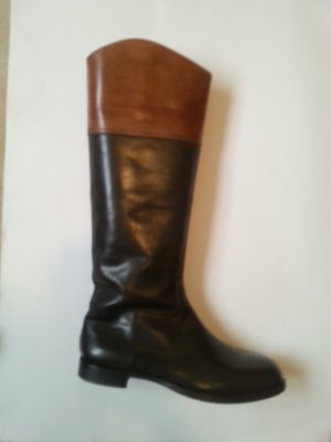 Santoni Jackboots anthracite-cognac-coloured leather