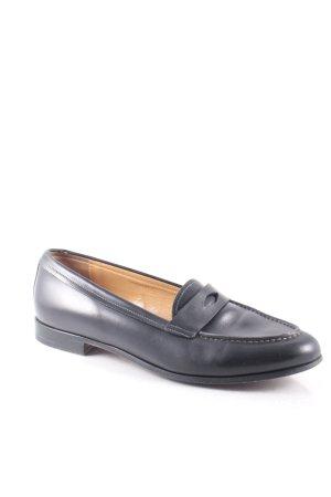 Santoni Schlüpfschuhe schwarz klassischer Stil