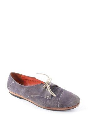 Santoni Zapatos brogue gris look casual