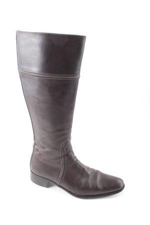 Santoni Botas altas marrón oscuro look casual