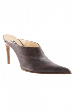 Sara & Co. High-Front Pumps dark brown second hand look