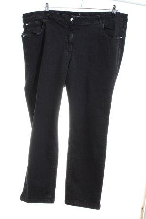 Sara Lindholm Jeans slim noir style décontracté