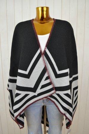 SARA MARTIGNONI Damen Poncho Wende-Poncho Wolle Cashmere Mod. Aztec