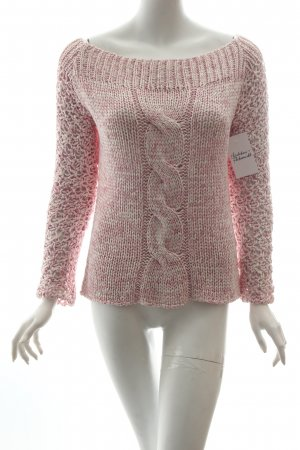 Sarah exclusive Strickpullover hellrosa-weiß meliert Casual-Look