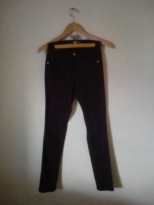 Sarah Kern Drainpipe Trousers bordeaux cotton