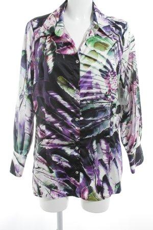 Sarah Kern Langarm-Bluse abstraktes Muster Elegant