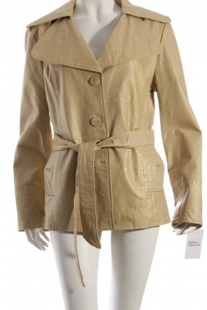 Sarah Kern Lederjacke beige Animal-Look