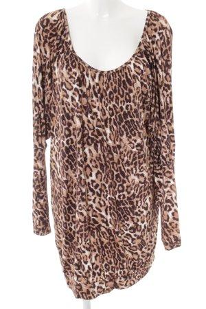 Sarah Kern Longshirt cognac-apricot Leomuster Street-Fashion-Look