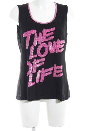 Sarah Kern Top lungo nero-rosa stile casual