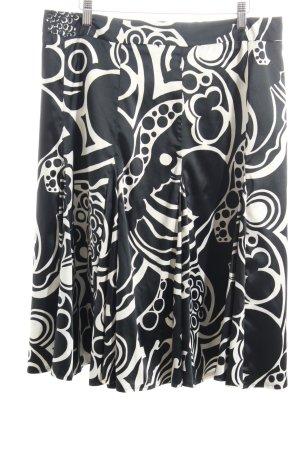 Sarah Kern Midirock schwarz abstraktes Muster Eleganz-Look