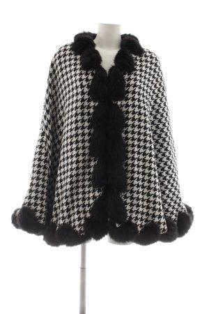 Sarah Kern Poncho schwarz-weiß Hahnentrittmuster Elegant