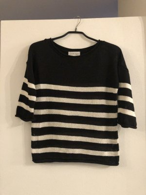 Sarah Kern Knitted Top black-white