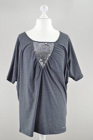 Sarah Kern Shirt mit Fledermausärmel grau Größe 42
