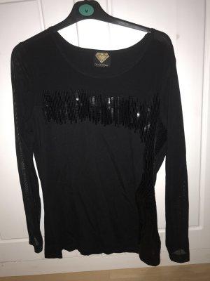 Sarah kern Shirt mit Transparenten Ärmeln und Pailletten