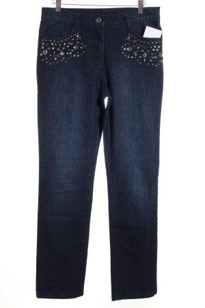 Sarah Kern Slim Jeans dunkelblau Elegant
