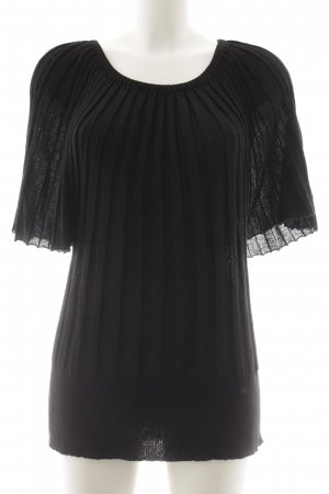 Sarah Kern Knitted Jumper black flecked casual look