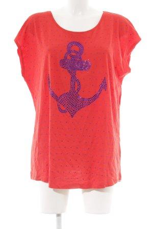 Sarah Kern T-Shirt blau-rot Casual-Look