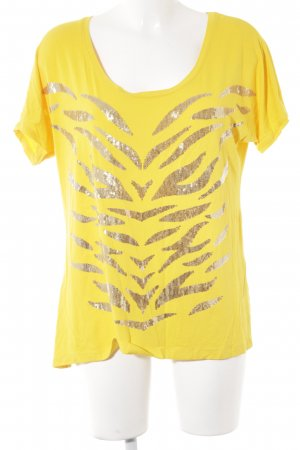 Sarah Kern T-Shirt gelb-goldfarben Animalmuster Party-Look