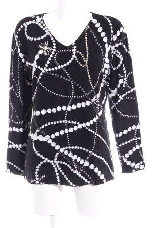 Sarah Kern V-Ausschnitt-Pullover Punktemuster Casual-Look