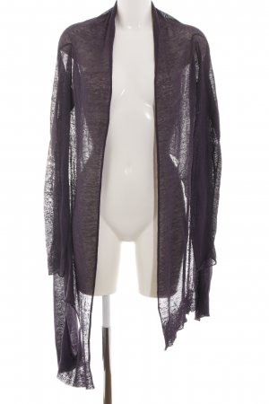 Sarah Pacini Knitted Wrap Cardigan lilac casual look