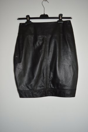 Sarah Pacini Falda de cuero negro Cuero