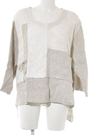 Sarah Santos Blouse en lin beige-blanc cassé style décontracté