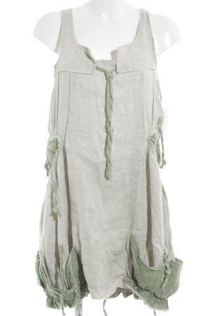 Sarah Santos Minikleid hellbeige-grün Casual-Look