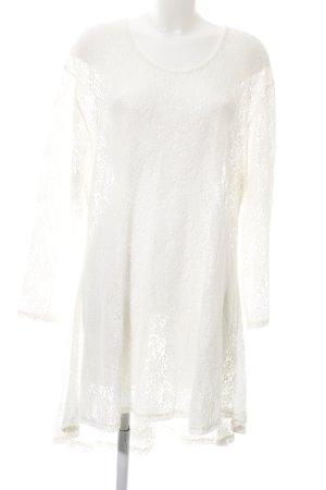 Sarah Santos Lace Dress white allover print casual look
