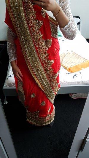 Saree/ Bollywood Wickelkleid