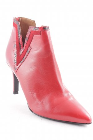 Sarenza Low boot rouge-noir style festif