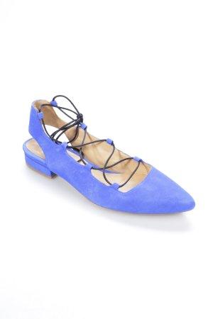 Sarenza Ballerinas mit Spitze blau klassischer Stil