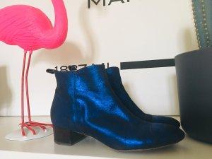 Sarenza Blaue Booties aus Leder