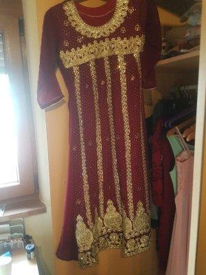 A Line Dress dark red