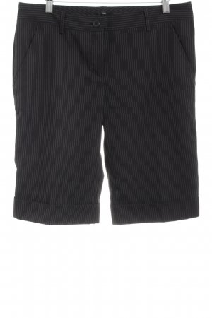 Sasch Bermudas black striped pattern simple style