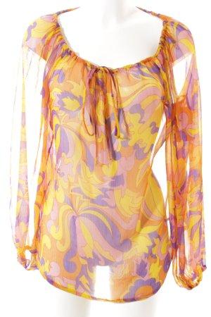 Sasch Oversized Bluse abstraktes Muster Elegant