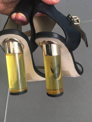 Sasha Tacones de tiras negro-amarillo
