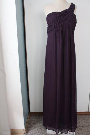 sasha Oneshoulder Maxikleid Abendkleid Abiball aubergine lila 1,52 m lang Gr. 44 46 UK 18
