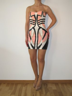 Sass & Bide Kleid Abendkleid WAX Leopard XS 34 Bandeaukleid