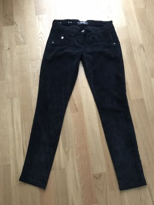 Pantalone a vita bassa nero-antracite