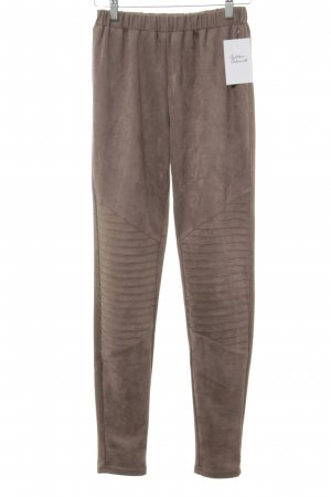 SassyClassy Leather Trousers light brown casual look