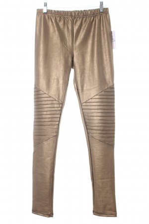 SassyClassy Leggings bronzefarben Glanz-Optik