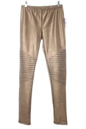 SassyClassy Leggings bronzefarben Glanz-Optik