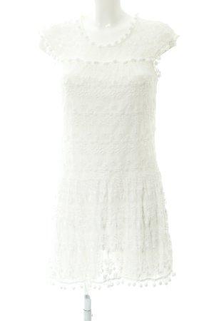 SassyClassy Spitzenkleid wollweiß florales Muster Retro-Look