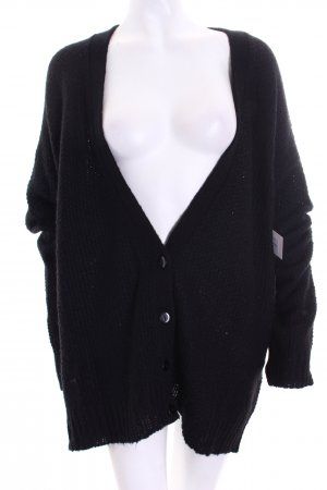 SassyClassy Strick Cardigan schwarz Street-Fashion-Look